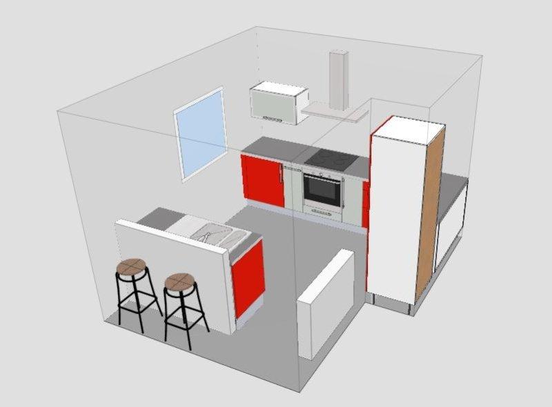 Beautiful a noter quuil manque un plan de travail sur le - Prix cuisine ikea 10m2 ...