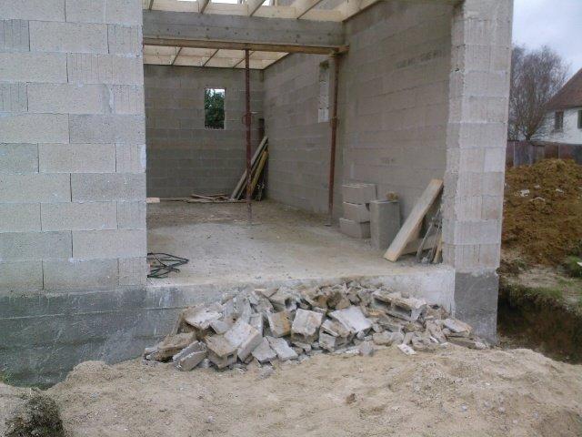 5 a charpente notre construction for Maison parpaing bois
