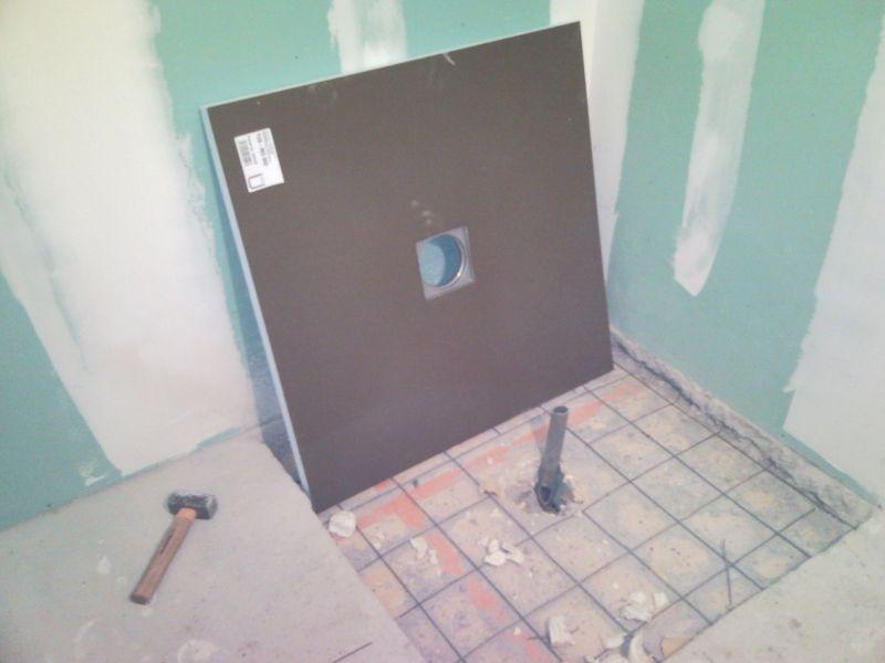 8 b pon age carrelage peinture notre construction for Peinture resine carrelage douche